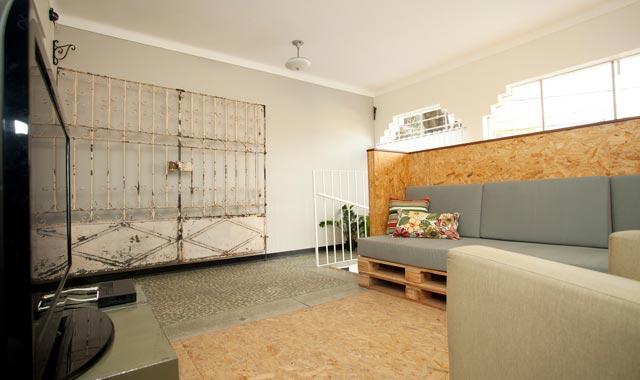 Sala de TV - Trem Azul Hostel em Belo Horizonte