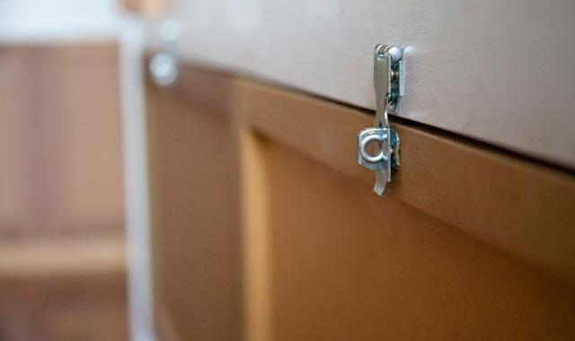 Lockers individuais nos quartos compartilhados