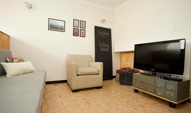 Sala de TV do Hostel